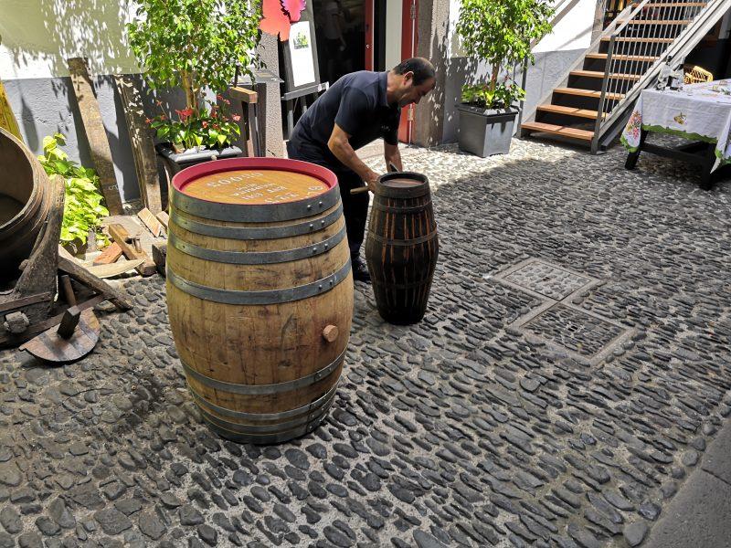 madera Old Blandy's Wine Lodge beczki