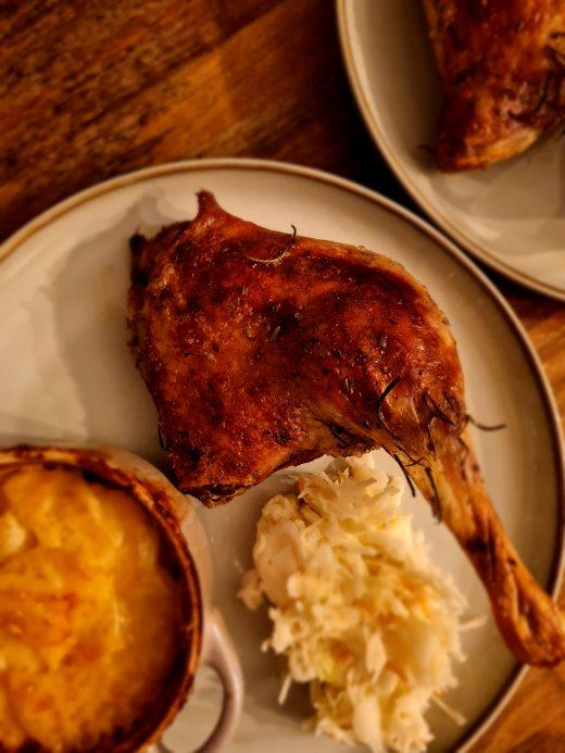 Pieczona kaczka i gratin z ziemniaków