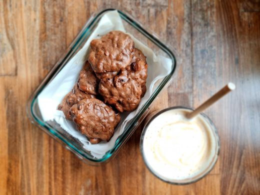 Czekoladowo-bakaliowe fit ciasteczka
