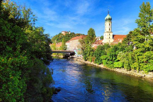 Graz atrakcje - Graz atrakcje - Murinsel i Kunsthaus